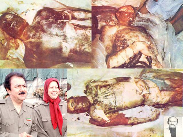 مردم و پاسداران شکنجه شده توسط منافقین